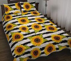 Sunflower Nursery, Sunflower Room, Bookshelves In Bedroom, Floating Shelves Bedroom, Quilt Bedding, Bedding Sets, Diy Pallet Bed, Print Patterns, Pattern Print