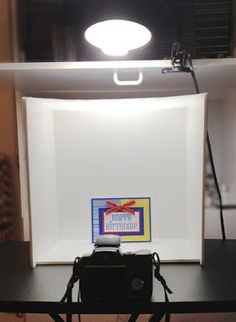 Handmade By Paula: Better Photos Made Easy ~ tutorial on photographing cards, DIY setup