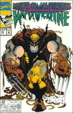 Wolverine #92 cover art by Sam Kieth. Very distictive style.