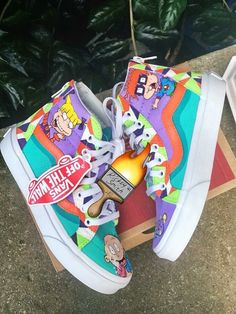 Would you cop these Vans by ⠀ ⠀ ⠀ ⠀ ⠀ ⠀ ⠀ ⠀ ⠀ ⠀ ⠀ ⠀ Make sure to click the link in our bio to shop all of the hottest custom products! From custom accessories to sneakers, we have it all! Sneakers Mode, Vans Sneakers, Sneakers Fashion, Nba Fashion, Custom Vans Shoes, Custom Sneakers, Cool Vans Shoes, Boy Shoes, Crazy Shoes