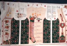 Christmas HO HO HO Vest Fabric Panel Size 8-22 Daisy Kingdom Create Ugly Sweater  | eBay