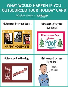 What Would Happen If You Outsourced Your Holiday Card (Parenting Comic by Hedger Humor for Babble) Parenting Goals, Parenting Teenagers, Parenting Memes, Single Parenting, Parenting Websites, Foster Parenting, Funny Boy, Teen Quotes, Activities