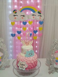 elegant first birthday Rain Baby Showers, Baby Shower Parties, Baby Shower Themes, Baby Shower Decorations, Girl Birthday Themes, Diy Birthday, Birthday Parties, Simple Birthday Decorations, Birthday Pictures