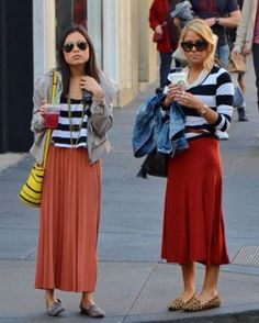 skirts and loafers outfit