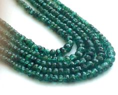 Emerald Beads Emerald Faceted Rondelle Beads by gemsforjewels