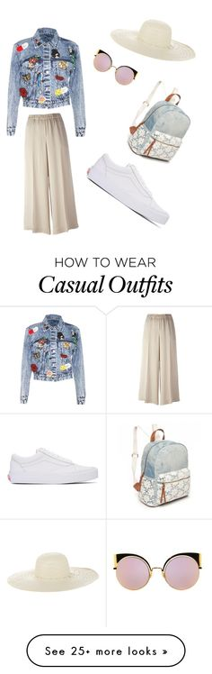 """""""Casual"""" by annacoufal on Polyvore featuring Alice + Olivia, Fendi, Theory, Vans, Jennifer Ouellette and Red Camel"""