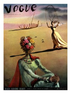 Vogue Cover - June 1939 Regular Giclee Print par Salvador Dali