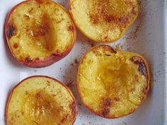Separate Toasters: Roasted Peaches with Cinnamon and Toasted Almonds