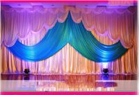 Wholesale wedding Backdrop 10ft*20ft stage decoration wedding supplies Backdrop with Detachable Swag