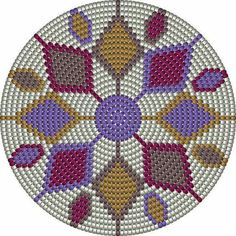 This Pin was discovered by Pam Mandala Au Crochet, Tapestry Crochet Patterns, Crochet Stitches Patterns, Crochet Chart, Crochet Motif, Beading Patterns, Cross Stitch Patterns, Mochila Crochet, Tapestry Bag