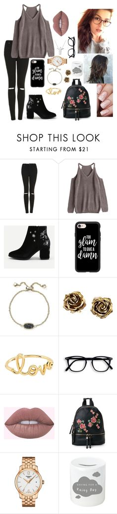 """""""Hey......"""" by urielectric ❤ liked on Polyvore featuring Topshop, Casetify, Kendra Scott, Tiffany & Co., Sydney Evan, Urban Expressions and Tissot"""