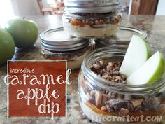 individual caramel apple dips