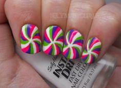 Funky Swirl Nails.