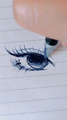 Art Drawings Sketches Simple, Pencil Art Drawings, Cute Drawings, Drawing Techniques, Drawing Tips, Easy Eye Drawing, Drawing Ideas, Art Tutorials, Eye Drawing Tutorials