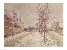 Snow Effect, Art Print by Claude Monet