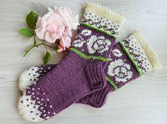 High quality handknitted things for all family by TriinasHandmade – Knitting Socks Knitting Patterns Boys, Knitting For Kids, Baby Knitting, Fair Isle Knitting, Loom Knitting, Knitting Socks, Knit Socks, Womens Wool Socks, Fair Isles