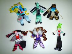 Monster High inspired Hair Clips by HotGlueandScissors on Etsy, $9.00