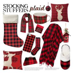 """Stocking Stuffers Plaid"" by piedraandjesus ❤ liked on Polyvore featuring Kavka, Casetify, Balenciaga, Home Decorators Collection, Masterpiece Cards, plaid, polyvoreeditorial and stockingstuffers"