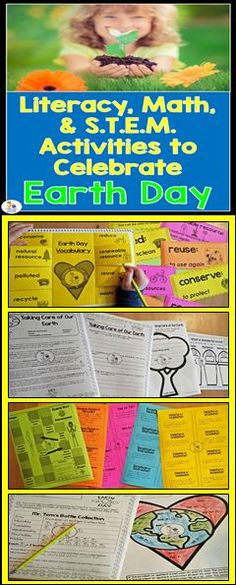 Reading, letter writing, design challenge, math, science experiment, and more to get your students excited for Earth Day!