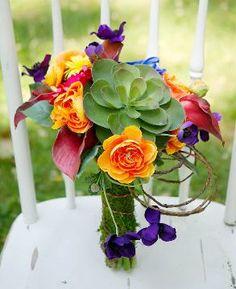 Echeveria, Calla Lilies, Dahlia, Anemone,  Gerbera Daisy, Ranunculus, Bouquet or Arrangement