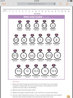Diamond Wedding Rings This printable ring size guide will help you find the right size for your fingers. - What's your ring size? If you don't know the answer, refer to our easy-to-use sizing guide and never wonder again. Wedding Rings Vintage, Diamond Wedding Rings, Wedding Jewelry, Wedding Bands, Wedding Ring Guide, Solitaire Rings, Halo Rings, Diamond Rings, Wedding Dress