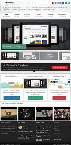 Stylish feature rich premium business / portfolio WordPress Theme from ThemeForest