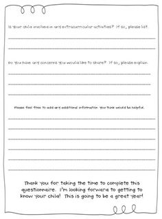 I love this idea! I remember getting one of these from one of my teachers when I was in elementary school! Great idea to give out during an open house or even mail home to parents!