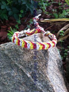Dedicated to the Ronald McDonald House of Charlotte #awareness #bracelet #cancer #childhood #donate #donations #fiber #gold #hemp #jewelry #month #september #st_judes #support