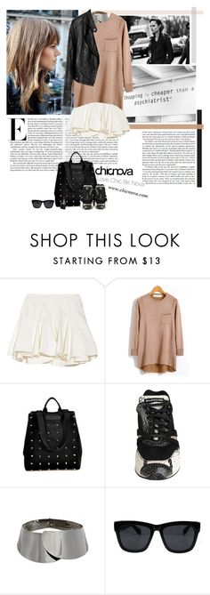"""""""Shopping is cheaper than a psychiatrist :)"""" by minnie-me ❤ liked on Polyvore featuring Thakoon Addition, Balenciaga, MAC Cosmetics, vintage, chicanova.com, sneakers and leather jacket"""