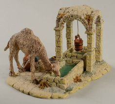 The Holy Land Caravansary Drinking Well : Department 56 Christmas Village Display, Christmas Nativity Scene, Nativity Scenes, Christmas Crafts, Sola Scriptura, Architectural Sculpture, Relief Society Activities, Nativity Crafts, Sunday School Crafts