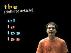 Spanish Lesson - nouns, definite articles & class vocab
