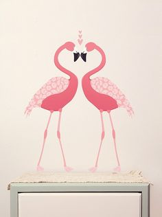 Pink Flamingoes Wall Decals at Lark