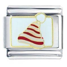Santa Claus Christmas Gift Hat Fashion Italian Charms Bracelet Link