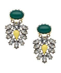 David Aubrey Delilah Floral Drop Earrings #maxandchloe
