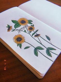 #bulletjournal #july #2018 #sunflower #huji #hujicam