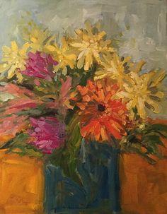 Petal Works by Barb Walker Oil ~ 14 x 11