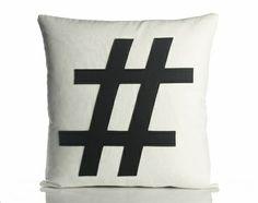 Hashtag Recycled Felt Throw Pillow