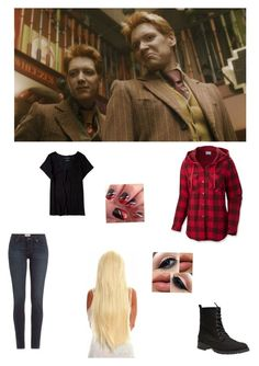 """""""Imagine Fred and George always teasing you"""" by panicatmystic on Polyvore featuring art"""