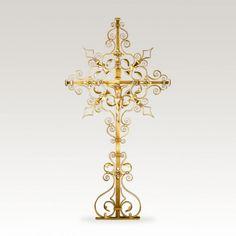 Schmiedeeisernes Grabkreuz »Avianus« mit Jesus • Hochwertige Schmiedekunst & Handarbeit • Jetzt versandkostenfrei kaufen bei ▷ Serafinum.de