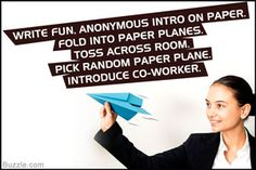 Paper plane team building activity