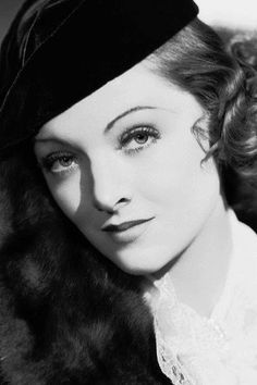 Myrna Loy.  Classic Hollywood Stars.  Vintage Style.