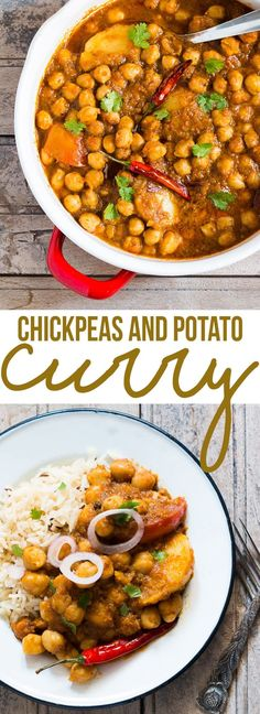 Chana aloo or chhole aloo is one of the most delicious Indian curries you'll ever taste! Spicy, moderately hot and packed with flavor. Great weeknight lunch or dinner option and vegan too! Chickpea Recipes, Spicy Recipes, Curry Recipes, Potato Recipes, Indian Food Recipes, Asian Recipes, Vegetarian Recipes, Cooking Recipes, Healthy Recipes