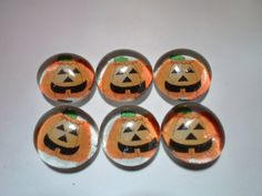 Glass Marble Magnets  Halloween / 73 by LisaChristines on Etsy, $5.00