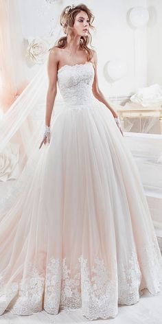 Beautiful And Romantic Nicole Spose Wedding Dresses 2018 ❤ ball gown with srapless lace straight neckline nicole spose wedding dresses Full gallery: https://weddingdressesguide.com/nicole-spose-wedding-dresses/