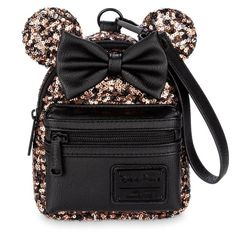 Loungefly - Belle of the Ball - Minnie Maus - Paillettenbesetzter Mini-Tasche Disney Bags, Disney Handbags, Disney Purse, Walt Disney, Mini Backpack, Mini Bag, Disney Collection, Minnie Mouse Backpack, Bronze