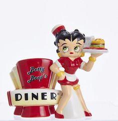 Betty Boop's Diner Salt And Pepper Set