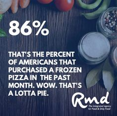 It's true data. #Americans have changed how we eat, and suddenly the #pizza / #frozen aisle is more popular than EVER before. Raise your hand if you were among the 86% 🤔🍕 ...#rmdadvertising #foodmarketingagency #agencylife #clientlove #foodlove #creative #smart #sharp #problemsolving #passionate #branding #marketingtips #marketingstrategy #advertising #strategy I Want To Work, The Agency, Advertising Agency, Suddenly, Problem Solving, Frozen, Pizza, Things To Come, Branding