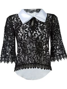 2f680adb54056c MARTHA MEDEIROS LACE BLOUSE.  marthamedeiros  cloth  blouse Bow Shirts
