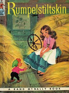 Rumplestiltskin vintage Rand Mcnally children's book