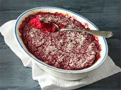 Beetroot casserole with blue cheese. Finnish Recipes, Cooking Recipes, Healthy Recipes, Beetroot, No Cook Meals, Vegetable Recipes, Acai Bowl, Side Dishes, Good Food